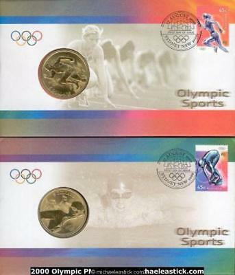 2000 Sydney Olympic Postal Numismatic Covers pair of covers