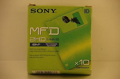 lot de 10  disquettes SONY 2HD 144MB