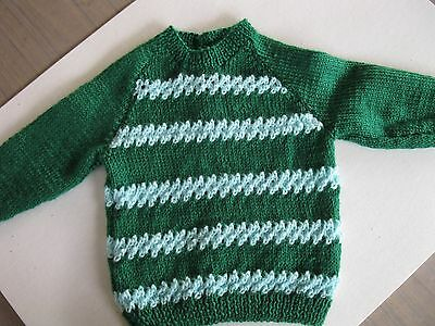 Hand Knitted, Childs Jumper- Brand New - 8 Ply Material