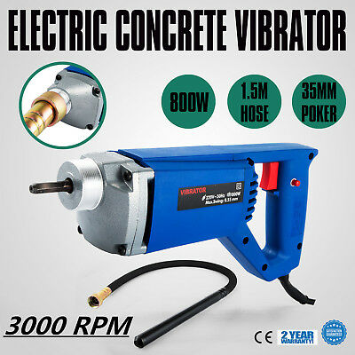 800W Electric Concrete Vibrator  1.5m Hose 35mm  Effectively Portable Vibration