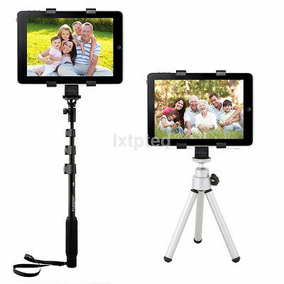 "Camera 1/4"" Tripod Adapter w/ Mount Holder Clamp for iPad 4 Air Mini 2 3 Tablet~"