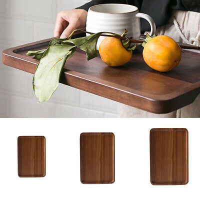 S/M/L Wooden Serving Tray Serving Fruit Tea Breakfast Wood Kitchen Platter