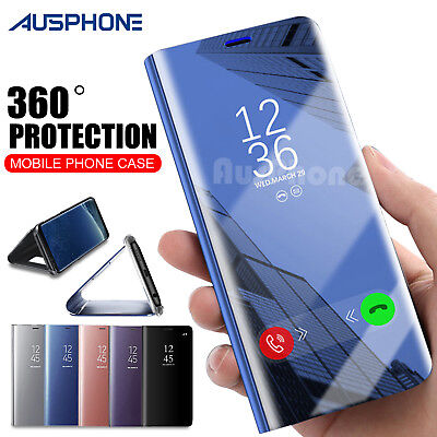 Galaxy S9 S8 Plus Note 9 S7 A8 J5 J2 Pro J8 Cover Mirror Flip Case for Samsung