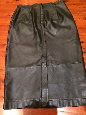 Sportsgirl Leather Skirt - Size S