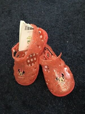 Brand New With Tags Disney Jelly Shoes Toddler 12-18 Months