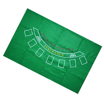 Blackjack Folding Poker Table Top Layout for 7 Players 180 x 90cm Green