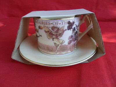 QUEENS, Flower Faries Teacup & Saucer (New/Packaged) - AUTUMN