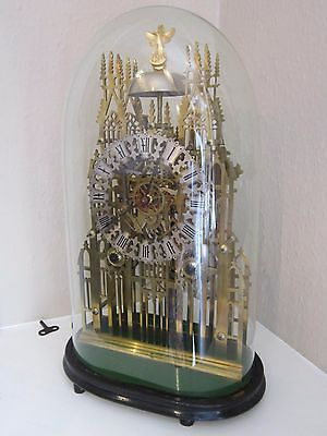 Victoria double chain fusee striking skeleton clock
