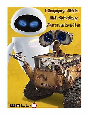 Wall E And Eve Edible Cake Image Frosting Sheet Party Decoration