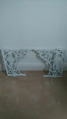 A Pair Of Victorian Cast Iron Toilet / Wc Brackets