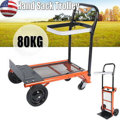 Platform Cart Dolly Foldable Luggage Warehouse Push Hand Truck Collapsible Tool