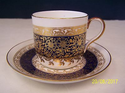 Theodore B Starr - NYC Cobalt & Gold Floral Demitasse Cup and Saucer