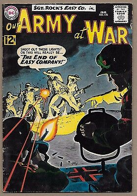 Our Army at War #126~Sgt Rock~1st app Canary~End of Easy Company~Grey Tone cover