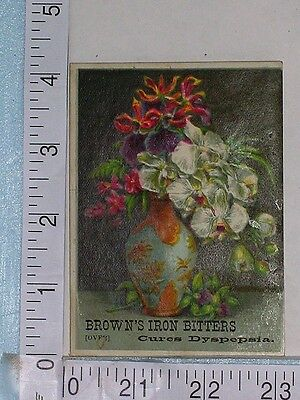 Antique Bottle trade card BROWN'S IRON BITTERS