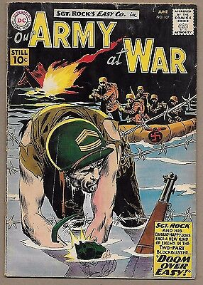 Our Army at War #107~Sgt Rock Easy Co.~85th Infantry Custer Division~DC War 1961