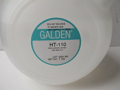 Galden HT-110 PFPE Heat Transfer Fluid - 7 Kg. Bottle - 110° C Boiling Point