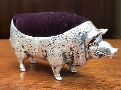 Large Silver plate Pig Pin Cushion. Open To Offers.