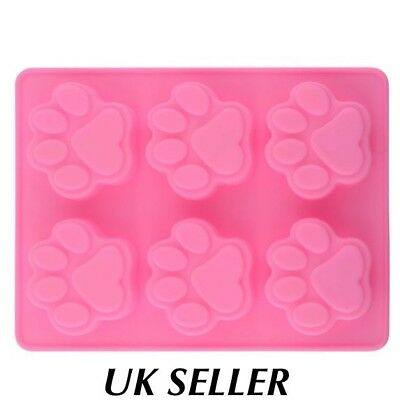 Silicone Mould Paw Print Shape Ice Cube Tray/cake Mould