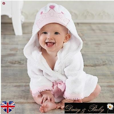 baby kids dressing gown bath towel girl hooded children babies beach Princess UK