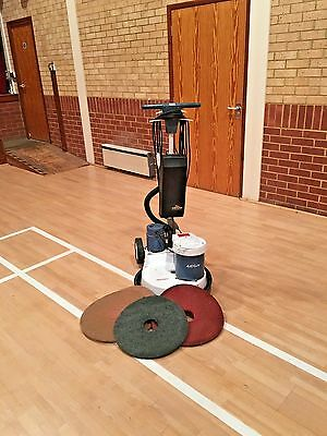 """Victor Airflow 17"""" Vacuumated Floor Scrubber Polisher Buffing Cleaning Machine."""