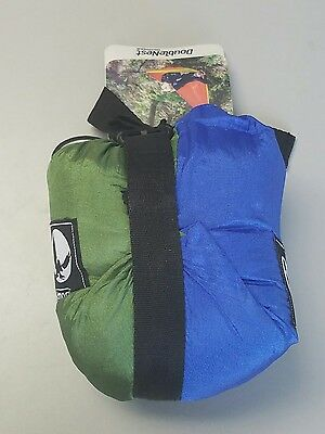 Eagles Nest Outfitters ENO DoubleNest Hammock Royal & Lime NWT NEW