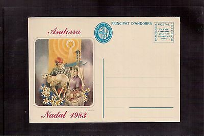 Andorra 1983 Mint Postal Stationery Cover, Christmas !!