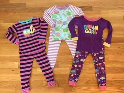 LOT of 3 BABY GAP Toddler Girls Sleep Set PJ Pajamas Size 3T EUC