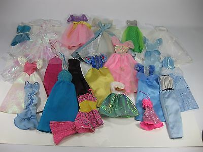 Barbie Dresses Lot of 22 Pieces Princess Dress Doll Clothes Used