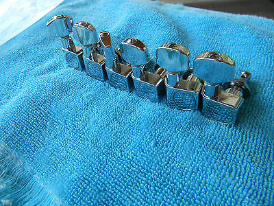 Fender Amercian Standard Tuning Machines Complete Set Of 6 Staggered Height Usa