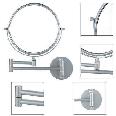 Extending Magnifying Make Up Bathroom Shaving Double-Sided Mirror Wall Mount