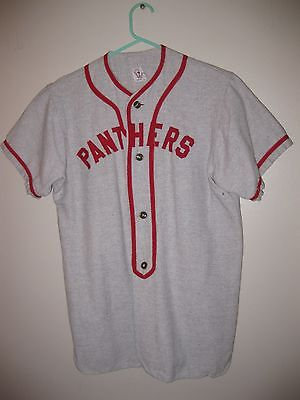 Vintage 1930's Wool Baseball Jersey Rare Panthers General Athletics Products Co.