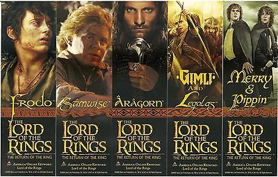Lord of the Rings - Return of the King Movie Set of (5) 2-Sided Bookmarks 2003