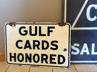 Gulf porcelain sign original double sided