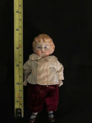 Antique All Bisque Doll with Jointed Limbs