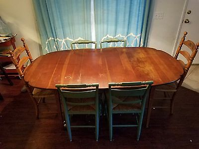 Hitchcock table and chairs set
