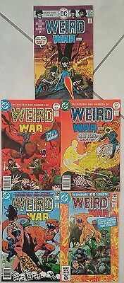 Weird War Tales Dc Comic Book Lot Of (5) Nice!!! Higher Grade!!!!!