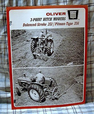 Vintage Oliver Corporation 3-Point Hitch Mowers Advertising Brochure-Ca 1966!