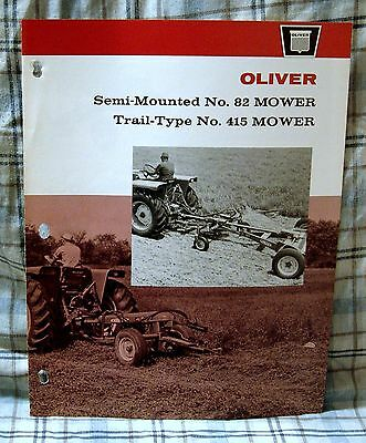 Vintage Oliver Corporation Model 82 & 415 Mowers Advertising Brochure-Ca 1960's!