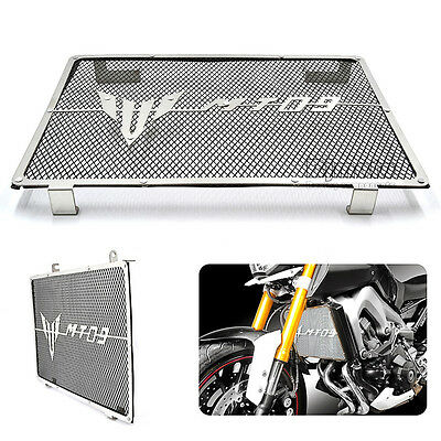 Radiator Grille Guard Cover Protector For Yamaha MT09 MT-09 2014-2017 2016 Black