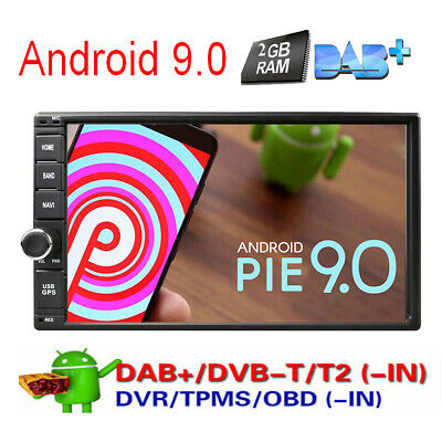 """7"""" Smart Android 9.0 4G WiFi Double 2DIN Car Radio Stereo No-DVD Player GPS Navi"""