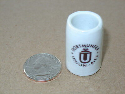 Dortmunder Union Bier MINI MUG Beer Stein Decor Desk Mantle Bar Man Cave