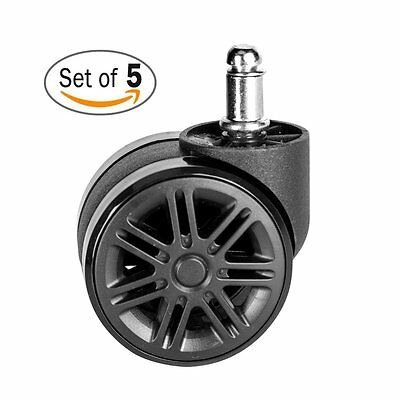 McKoo Office Chair Casters Wheels for Hardwood - Heavy Duty Modern Replacement 5