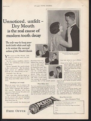 1925 Pebeco Tooth Brush Dental Hygiene Gums Glands Love Romance Smile 22233