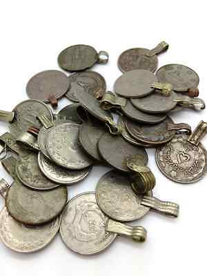 "25 LARGE Belly Dance Coins Kuchi Tribal Fusion ATS Vintage Coin 1"" DIY Supply"