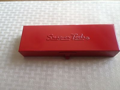 "New NOS 1974 Snap On Red Metal Tool Box KRA-229 7 9/16"" x 2 3/8"" x 1 3/16""  USA"