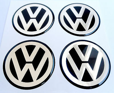 vw 4 st ck 65mm aluminium aufkleber emblem felgenaufkleber. Black Bedroom Furniture Sets. Home Design Ideas