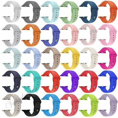 Replacement Silicone Sport Band Strap For Apple Watch 38 42 iWatch 38mm 42mm