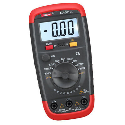 Digital Capacitance Meter LCD Display Data Hold Low Voltage Indication