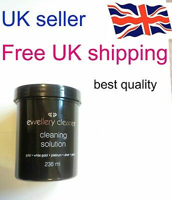Jewellery Cleaner Cleaning Solution 236ml /Gold/White Gold/Platinum/Silver/Gems/