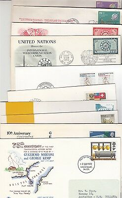 Communications 10 covers / postmarks /cards
